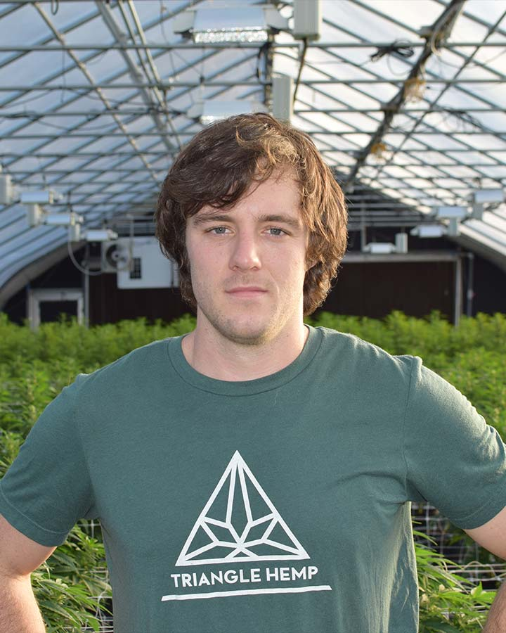 Kalmer Fox - Plant Production Manager with Triangle Hemp